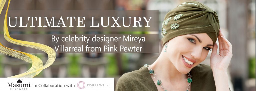 Masumi Headwear banner in collaboration with Pink Pewter