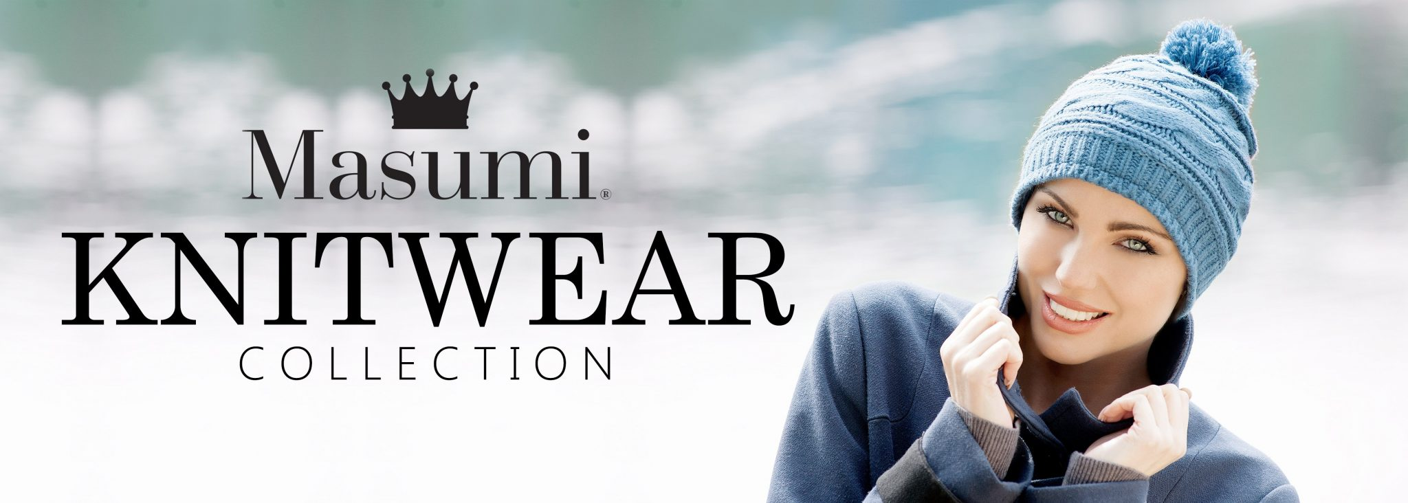 Masumi headwear knitwear collection banner