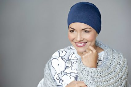 Chemo sleeping hat colour navy