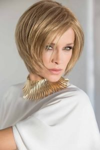 ladies wigs mid length blonde